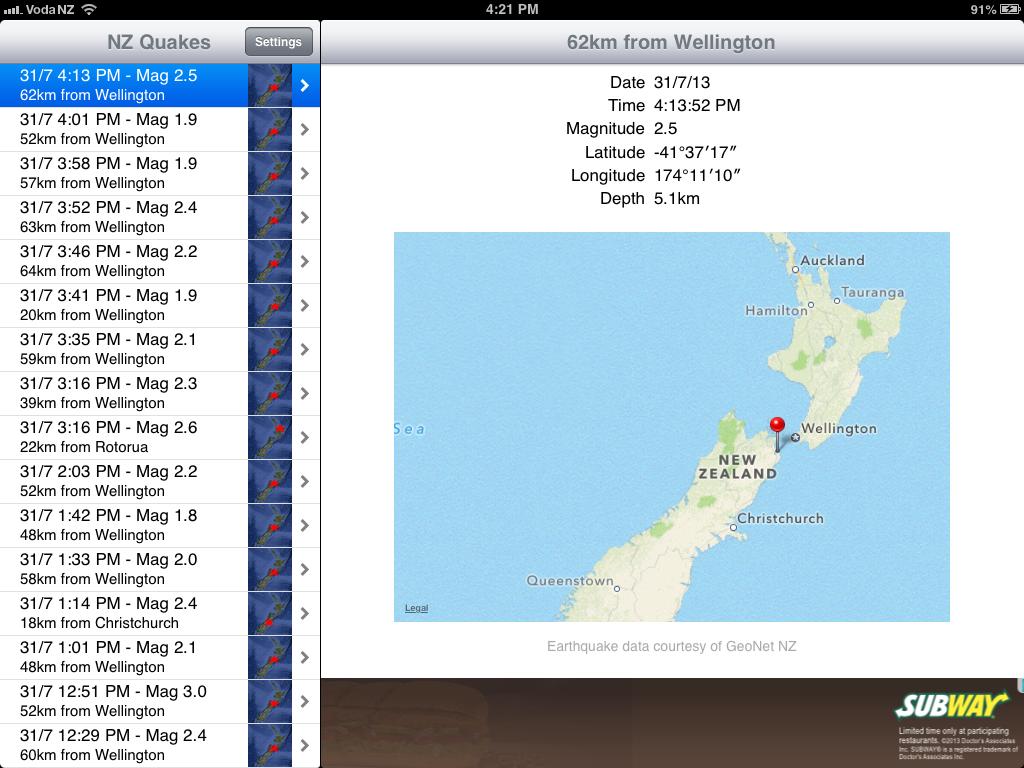 NZ Quakes
