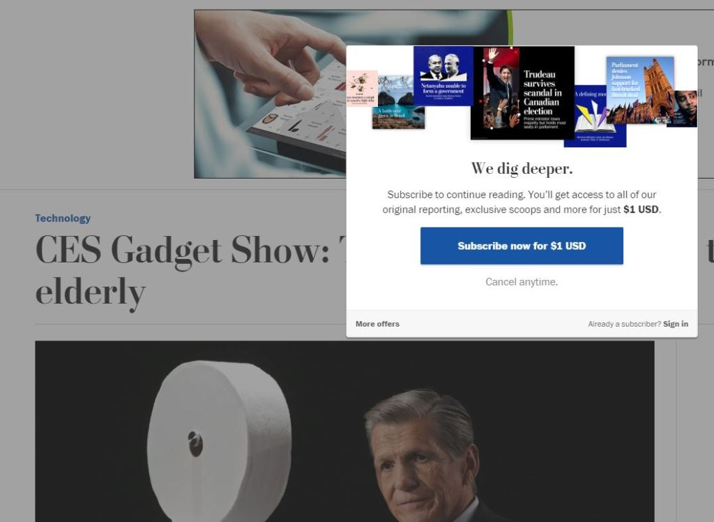 Washington Post Paywall